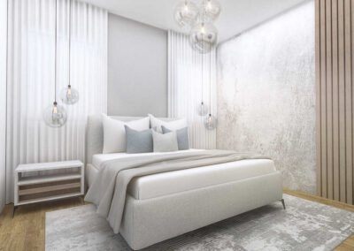 חדר שינה הדמיות לעיצוב פנים