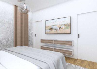 הדמיות עיצוב פנים חדר שינה בית פרטי