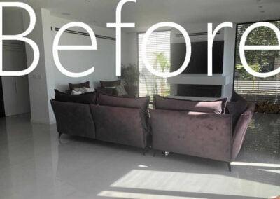 הסלון לפני עיצוב בית פרטי במושב