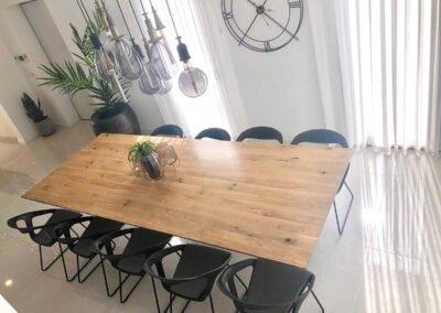 שולחן אוכל סטיילינג לבית פרטי במושב