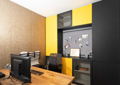 עיצוב חדר עבודה בבית פרטי במושב