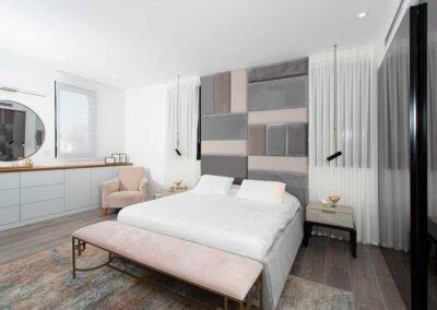 עיצוב בית פרטי חדר השינה