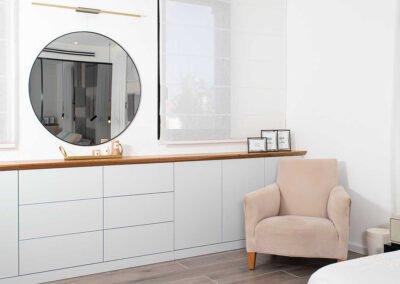 ארון איכסון בחדר השינה עיצוב בית פרטי