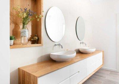 מקלחת עיצוב בית פרטי במושב