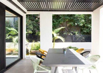 עיצוב בית פרטי במושב המרפסת